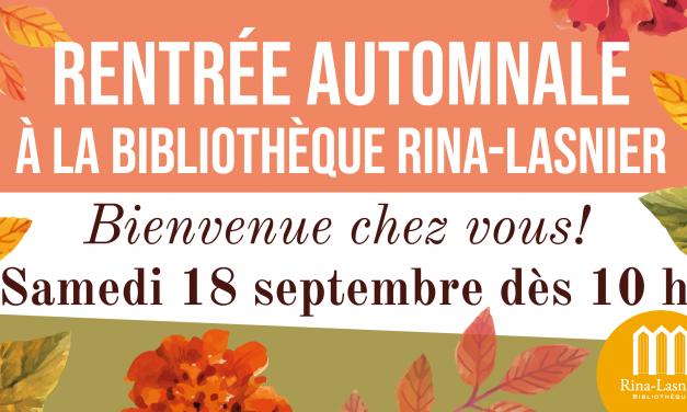 « Pour la rentrée, venez découvrir ou redécouvrir la Bibliothèque Rina-Lasnier »