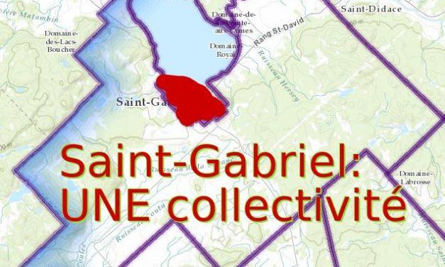 «Saint-Gabriel : UNE collectivité» c'est un départ!