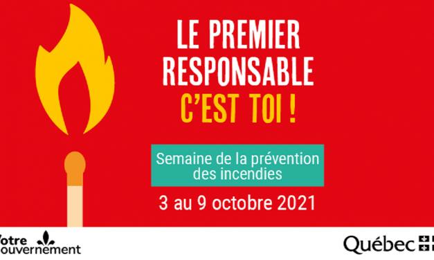 Semaine de la prévention des incendies du 3 au 9 octobre