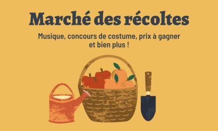 Le Marché des récoltes; une fin de saison haute en couleur pour le Marché public de Joliette !